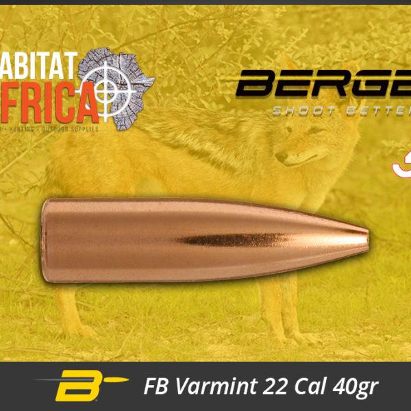 Berger FB Varmint 22 Cal 40gr Bullets Habitat Africa