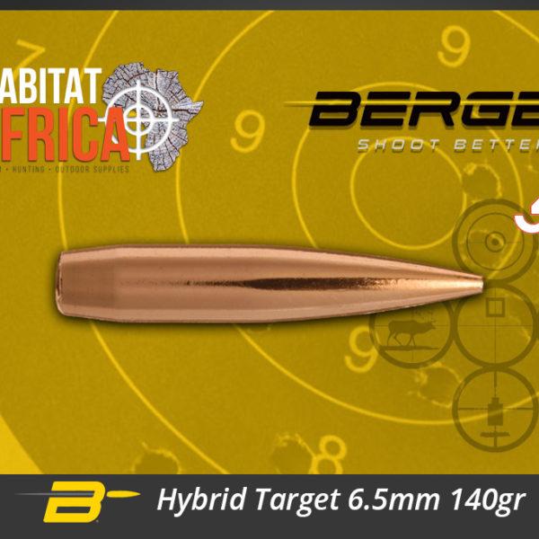 Berger Hybrid Target 6.5mm 140gr Bullets Habitat Africa