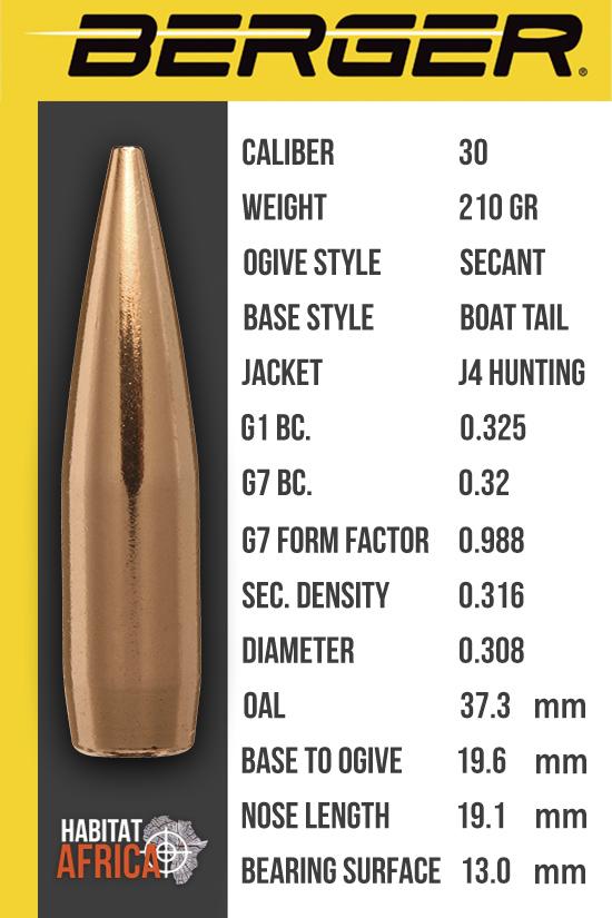 Berger VLD Hunting 30 Cal 210 grain| Reloading Bullets