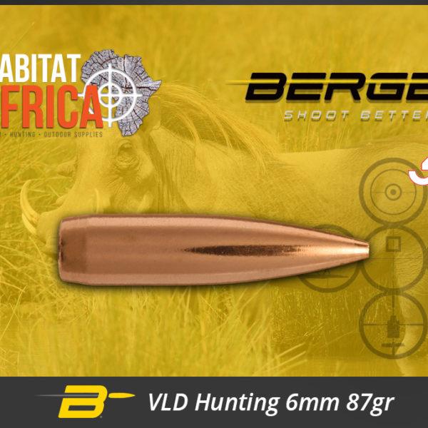 Berger VLD Hunting 6mm 87 gr Bullets Habitat Africa