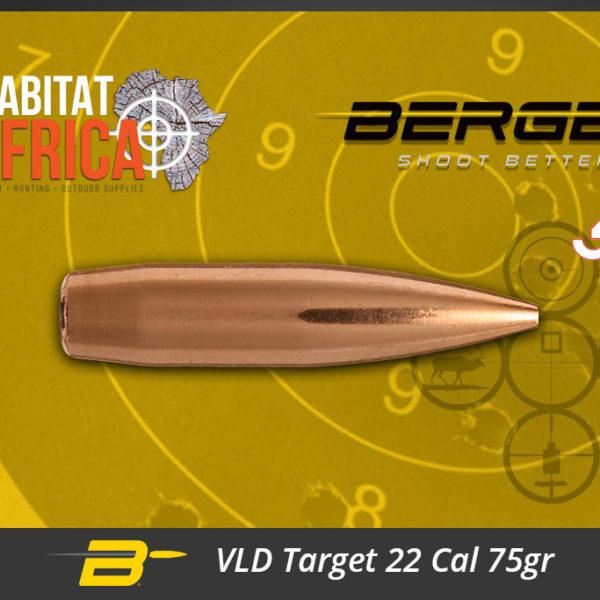 Berger VLD Target 22 Cal 75gr Bullets Habitat Africa