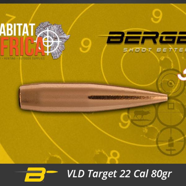 Berger VLD Target 22 Cal 80gr Bullets Habitat Africa