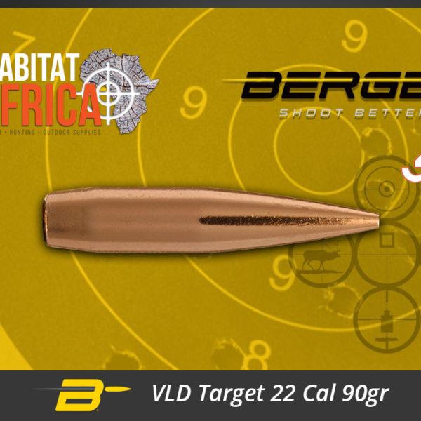 Berger VLD Target 22 Cal 90gr Bullets Habitat Africa
