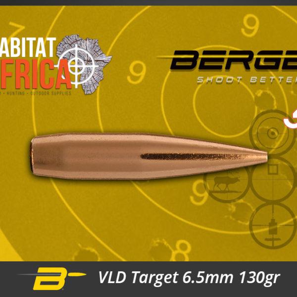 Berger VLD Target 6.5mm 130gr Bullets Habitat Africa