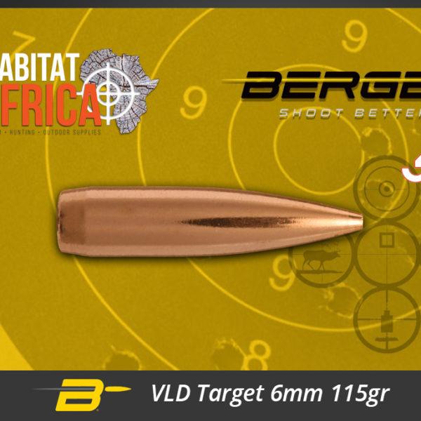 Berger VLD Target 6mm 115gr Bullets Habitat Africa