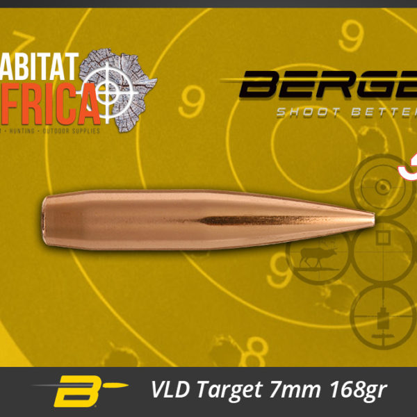 Berger VLD Target 7mm 168gr Bullets Habitat Africa