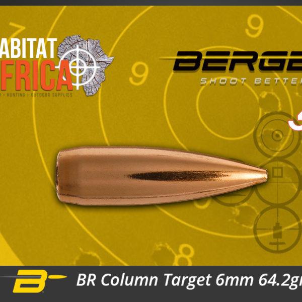 Berger BR Column Target 6mm 64.2gr Bullets Habitat Africa