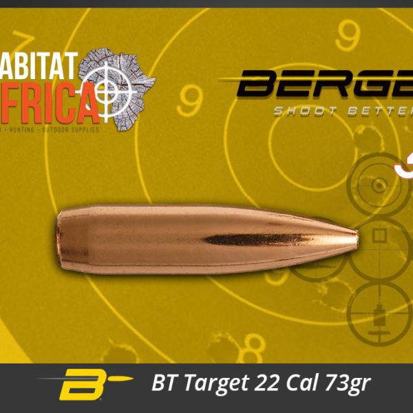 Berger BT Target 22 Cal 73gr Bullets Habitat Africa