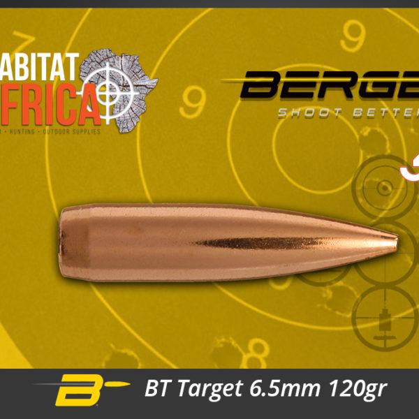 Berger BT Target 6.5mm 120gr Bullets Habitat Africa
