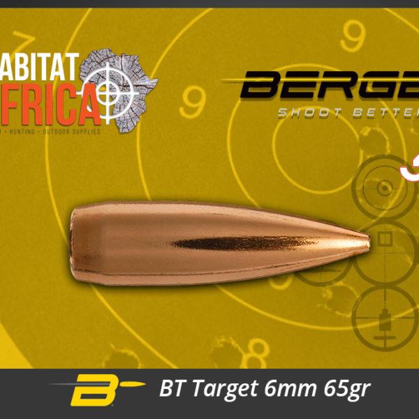 Berger BT Target 6mm 65gr Bullets Habitat Africa