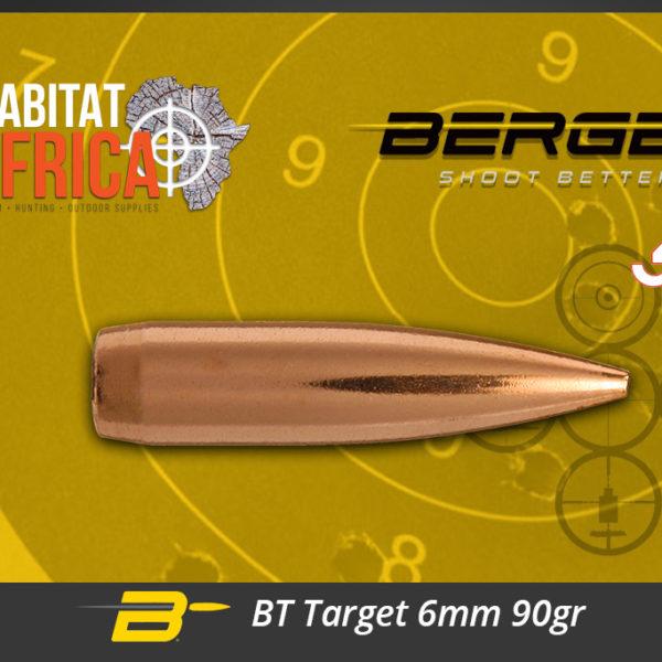 Berger BT Target 6mm 90gr Bullets Habitat Africa