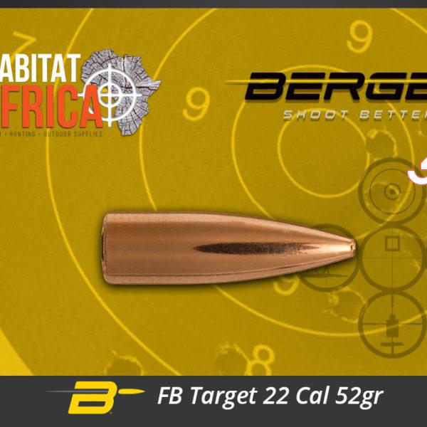 Berger FB Target 22 Cal 52gr Bullets Habitat Africa