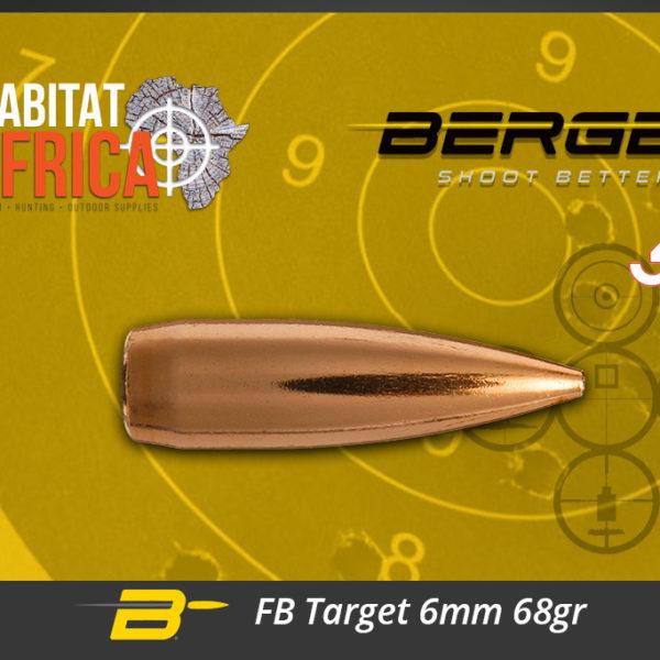 Berger FB Target 6mm 68gr Bullets Habitat Africa