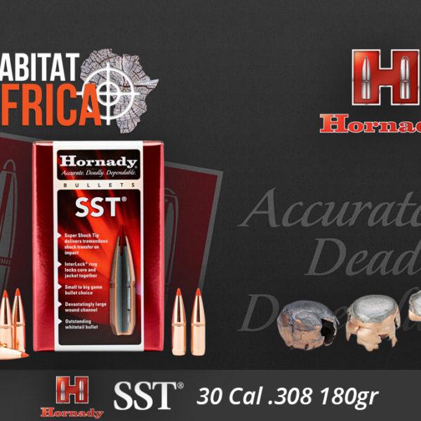 Hornady SST 30 Cal 180 grain Bullets Habitat Africa