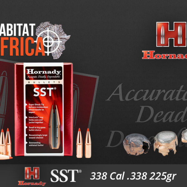 Hornady SST 338 Cal 225 grain Bullets Habitat Africa