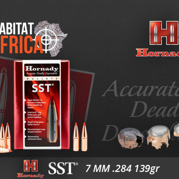 Hornady SST 7mm 139 grain Bullets Habitat Africa