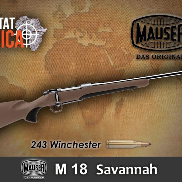 Mauser M18 Savannah 243 Winchester Habitat Africa