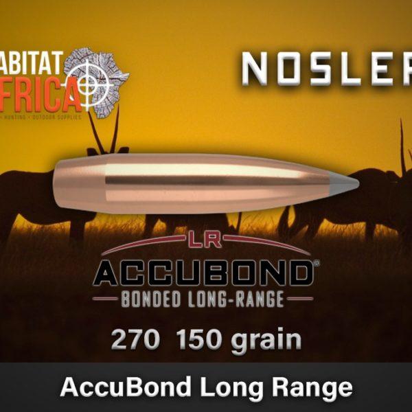Nosler ABLR 270 cal 150gr Habitat Africa