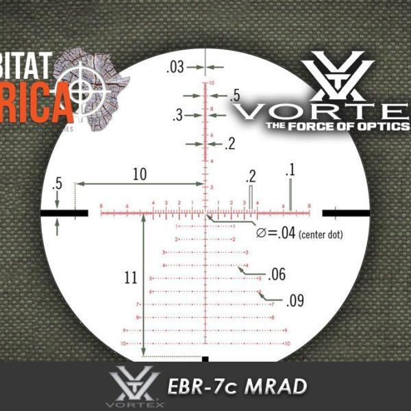 Vortex EBR 7c MRAD Reticle Habitat Africa