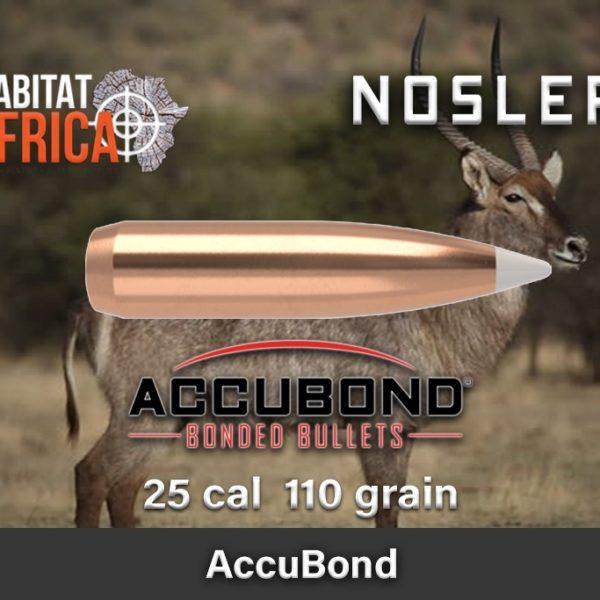 Nosler Accubond 25 110gr Habitat Africa