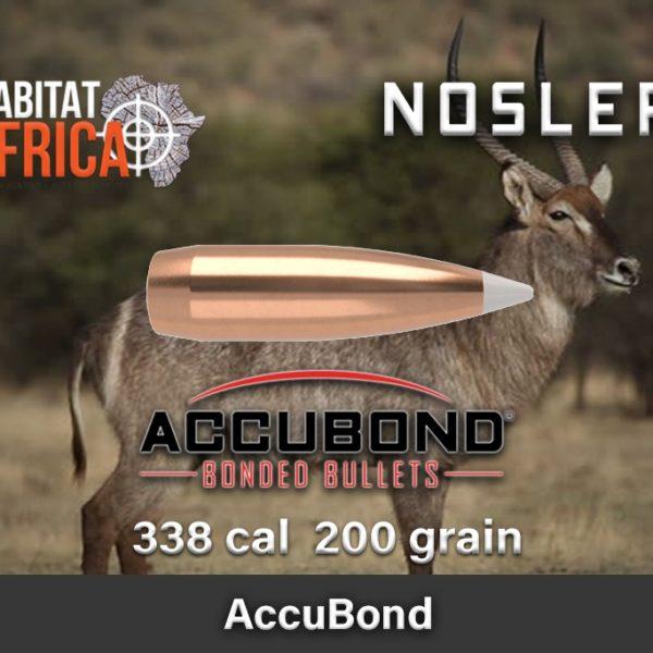 Nosler Accubond 338 200gr Habitat Africa