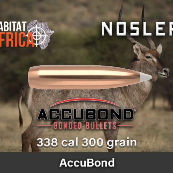 Nosler Accubond 338 300gr Habitat Africa