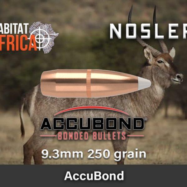 Nosler Accubond 9.3 250gr Habitat Africa